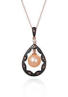 Le Vian 14k Strawberry Gold® Strawberry Pearl™, Chocolate Diamond® and Vanilla Diamond™ Pendant