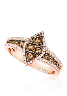 Le Vian Vanilla Diamond® and Chocolate Diamond® Ring in 14k Strawberry Gold®