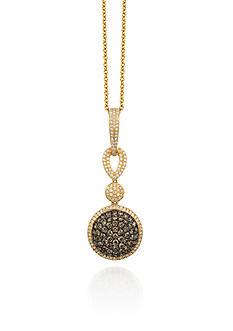 Le Vian® Chocolate Diamond® and Vanilla Diamond® Pendant in 14k Honey Gold™