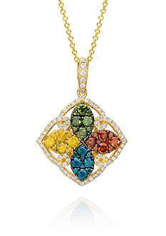 Le Vian® Multi Colored Diamond Pendant set in 14K Yellow Gold