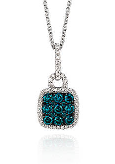 Le Vian® Blueberry Diamond® and Vanilla Diamond® Pendant in 14k Vanilla Gold®