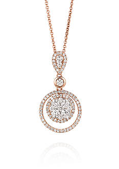 Le Vian Circle Diamond Pendant set in 14K Rose Gold