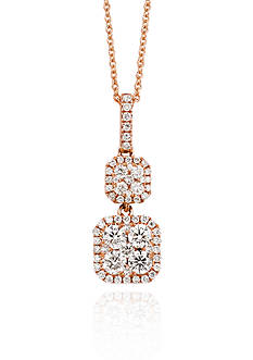 Le Vian Vanilla Diamond® Square Cluster Pendant in 14k Strawberry Gold®