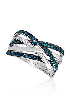 Le Vian® Blueberry Diamond® and Vanilla Diamond® Band in 14k Vanilla Gold®