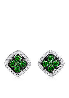 Le Vian Kiwiberry Green Diamond™ and Vanilla Diamond® Earrings in 14k Vanilla Gold®