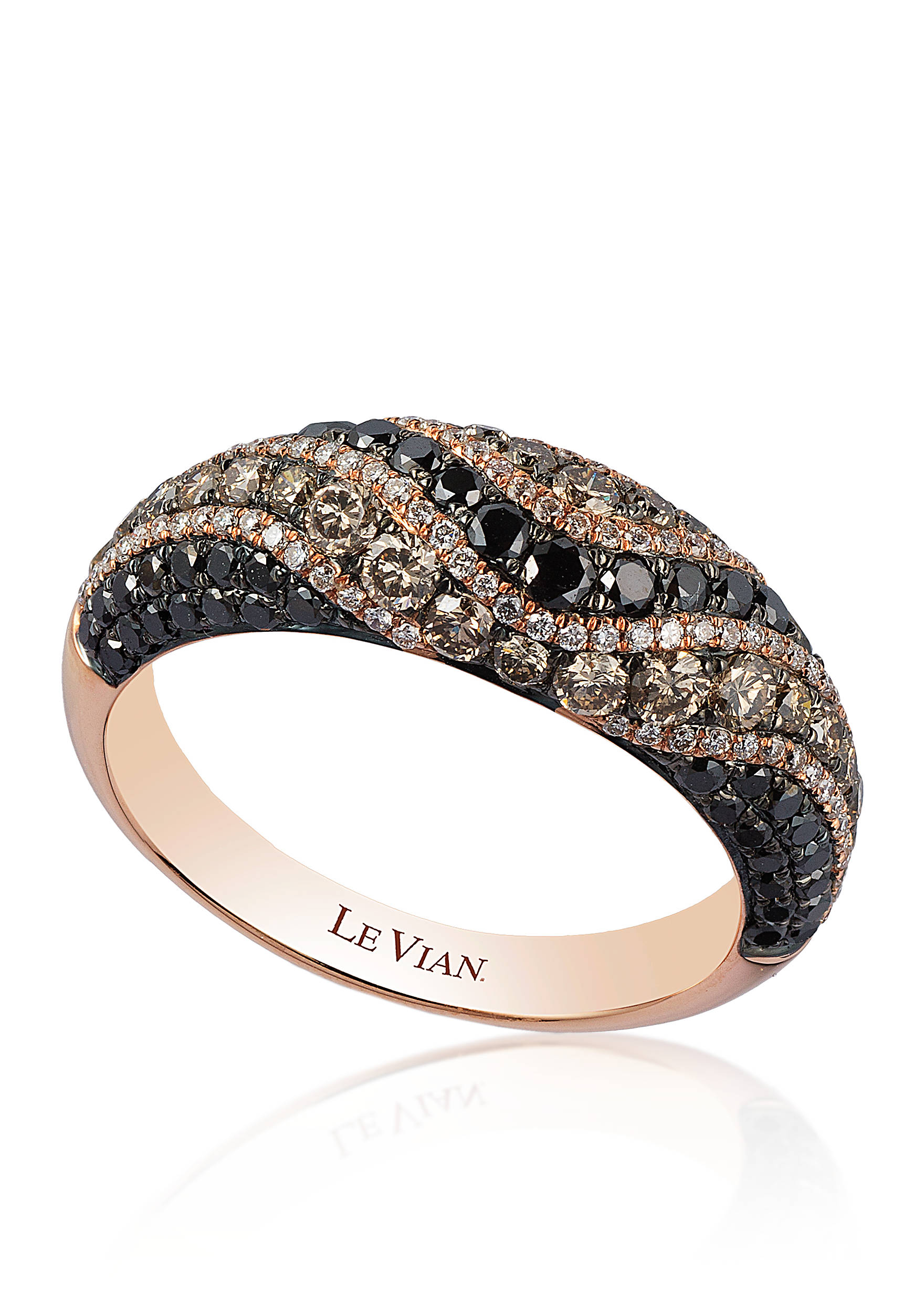 back to fine jewelry le vian dome chocolate diamond ring set - Chocolate Diamond Wedding Ring Sets