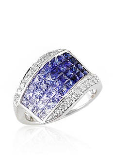 Belk & Co. Sapphire & Diamond Ring in 14K White Gold