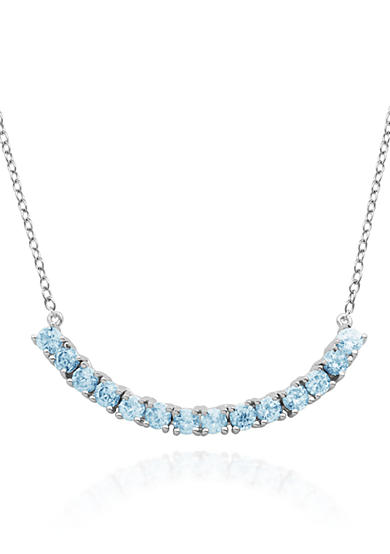 Belk & Co. Sterling Silver Blue Topaz Necklace