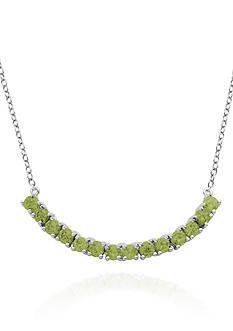 Belk & Co. Sterling Silver Peridot Necklace