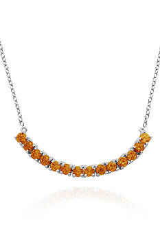 Belk & Co. Sterling Silver Citrine Necklace