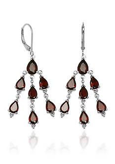 Belk & Co. Sterling Silver Garnet Dangle Chandelier Earring