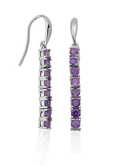 Belk & Co. Sterling Silver Amethyst Earrings
