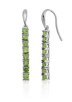 Belk & Co. Sterling Silver Peridot Earrings