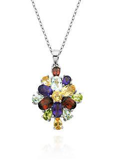 Belk & Co. Sterling Silver Multi Color Gemstone Pendant