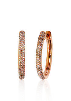Effy® Diamond Hoop Earrings in 14k Rose Gold