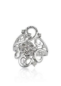 Effy Diamond Swirl Cluster Ring in 14k White Gold