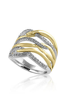 Effy 14K Yellow Gold & 14K White Gold Diamond Ring
