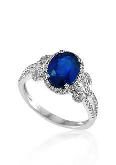 Effy 14k White Gold Sapphire and Diamond Ring
