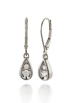 Belk & Co. Diamond Drop Earrings in 10k White Gold
