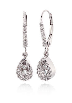 Belk & Co. Diamond Earrings in 10k White Gold