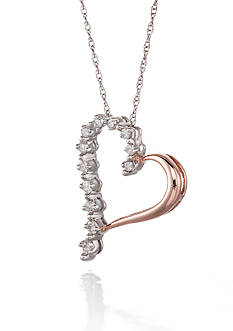 Belk & Co. Diamond Heart Pendant in 10k Rose Gold
