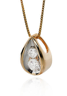 Belk & Co. Diamond Pendant in 10k Yellow Gold