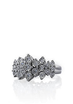 Belk & Co. Diamond Ring Set in Sterling Silver