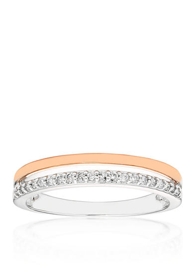 Belk & Co. 0.13 ct. t.w. Diamond Ring in 10K White Gold with 10K Rose Gold