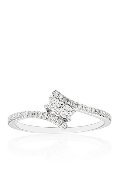 Belk & Co. 0.75 ct. t.w. Two Stone Diamond Ring in 10K White Gold