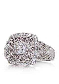 Belk & Co. Diamond Cluster Ring set in Sterling Silver