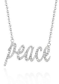 Belk & Co. Diamond Peace Necklace in Sterling Silver