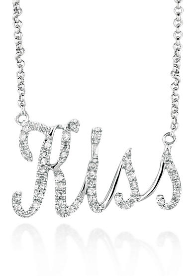 Belk & Co. Diamond Kiss Necklace in Sterling Silver