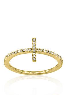 Belk & Co. Diamond Sideways Cross Ring in 14k yellow Gold