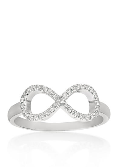 Belk & Co. Diamond Infinity Ring in Sterling Silver