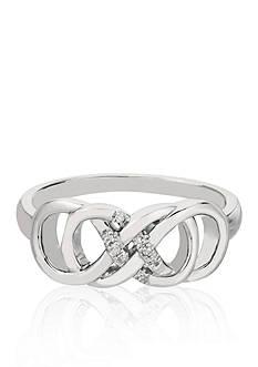 Belk & Co. Diamond Double Infinity Ring in Sterling Silver