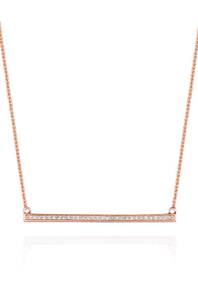 Belk & Co. Diamond Straight Trapeze Necklace in 14k Rose Gold