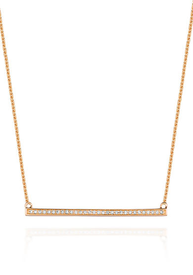 Belk & Co. Diamond Straight Trapeze Necklace in 14k Yellow Gold