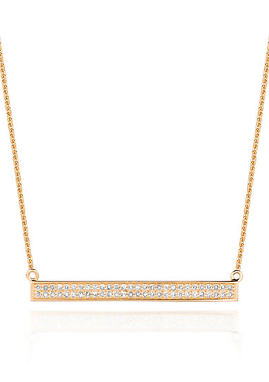 Belk & Co. Diamond Two Row Trapeze Necklace in 14k Yellow Gold
