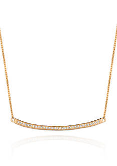 Belk & Co. Diamond Curved Trapeze Necklace in 14k Yellow Gold