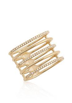Belk & Co. Diamond Five Row Ring in 14k Yellow Gold