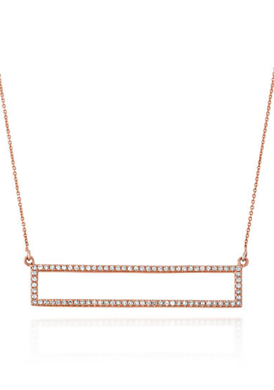 Belk & Co. Diamond Open Rectangle Trapeze Necklace in 14k Rose Gold