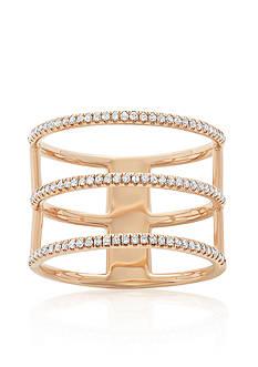 Belk & Co. Diamond Three Row Ring in 14k Rose Gold