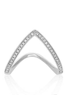 Belk & Co. Diamond Chevron Ring in 14k White Gold