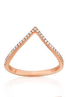 Belk & Co. Diamond V Ring in 14k Rose Gold