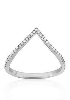 Belk & Co. Diamond V Ring in 14k White Gold