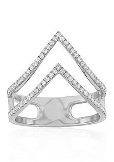 Belk & Co. Diamond Double V Ring in 14k White Gold