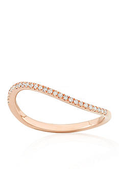 Belk & Co. Diamond Curved Ring in 14k Rose Gold