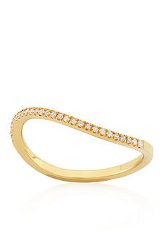 Belk & Co. Diamond Curved Ring in 14k Yellow Gold