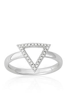 Belk & Co. Diamond Open Triangle Midi Ring in 14k White Gold