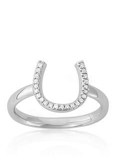 Belk & Co. Diamond Horseshoe Midi Ring in 14k White Gold
